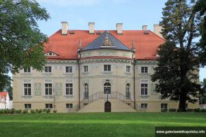 Elewacja ogrodowa pałacu w Lewkowie
