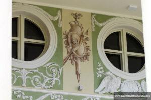 Detale pałacu w Lewkowie