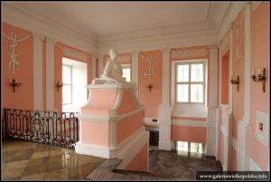 Zamek w Rydzynie- reprezentacyjna klatka schodowa: