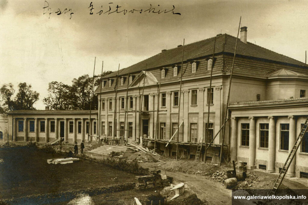 Pałac w Czaczu w trakcie rozbudowy na początku XX wieku