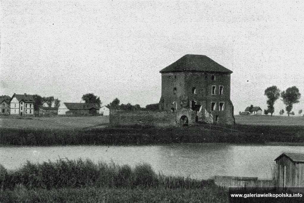 Zamek w Gołańczy na początku XX wieku