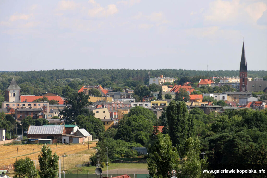 Oborniki- panorama miasta