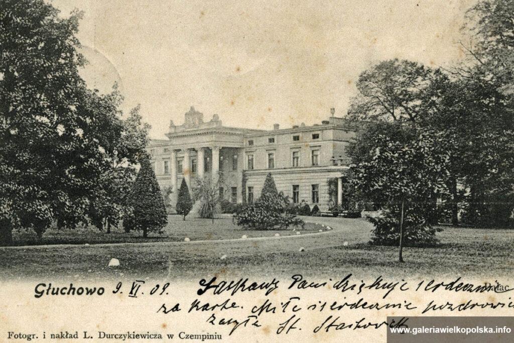 Pałac w Głuchowie na początku XX wieku