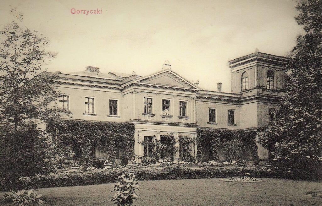 Pałac w Gorzyczkach na początku XX wieku
