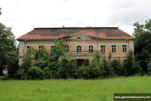 Pałac w Granówku- elewacja ogrodowa