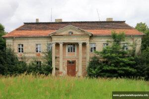 Pałac w Granówku- elewacja frontowa