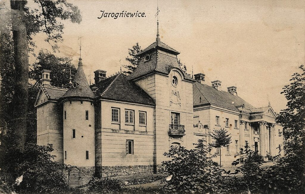 Pałac w Jarogniewicach na początku XX wieku