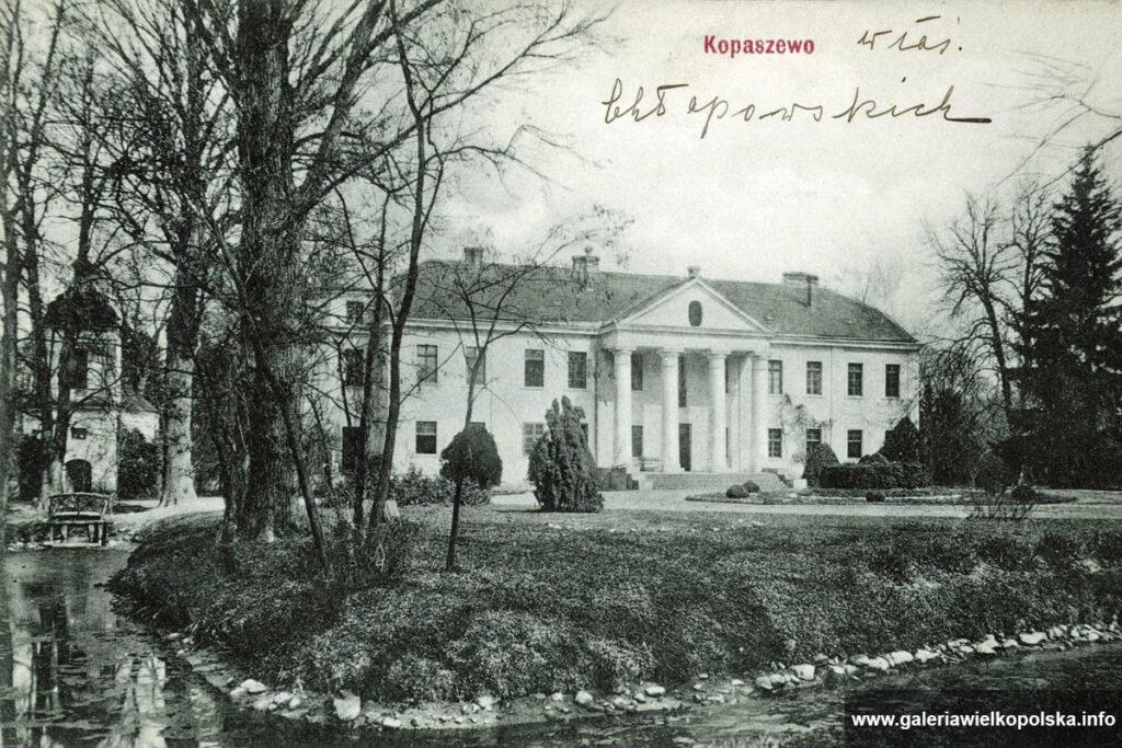Pałac w Kopaszewie na początku XX wieku