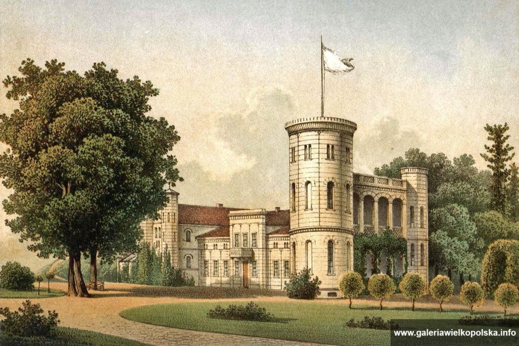 Pałac w Margońskiej Wsi pod koniec XIX wieku
